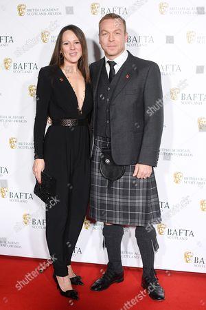 Stock Photo of Chris Hoy and Sarra Kemp