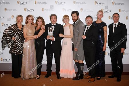 Sharon Small, Morven Christie, Nicole Cauverien, Joe Ahearne, Kim Allan, Richard Rankin, Mark Leese, Suzanne Mackie and Derek Riddell Left Bank Pictures/BBC One - Television Scripted - The Replacement