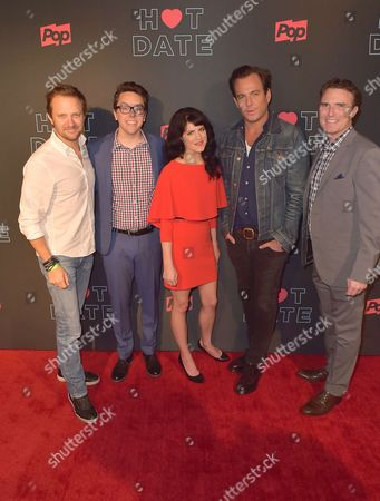 Stock Picture of Pop TV President Brad Schwartz, Brian Murphy, Emily Axford and Will Arnett