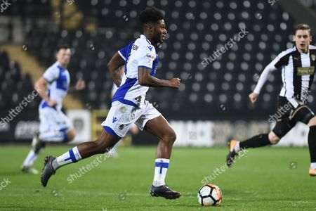 Bristol Rovers defender Daniel Leadbitter (2) during the The FA Cup match between Notts County and Bristol Rovers at Meadow Lane, Nottingham