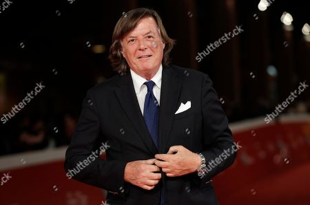 Former tennis player Adriano Panatta poses on the red carpet on the occasion of the screening of the movie Borg McEnroe, at the Rome Film fest, in Rome