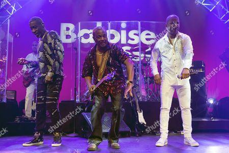 (L-R) Michael Ray, Robert 'Kool' Bell and Shawn McQuiller, perform with American funk and rhythm and blues band Kool and the Gang on stage at the Baloise Session in Basel, Switzerland, 03 November 2017.