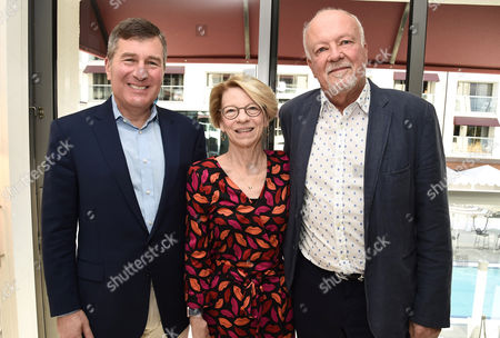 Charles Rivkin, Chairman & CEO, Motion Picture Association of America, Jean M. Prewitt, President & CEO, IFTA, and Michael Ryan, Partner at GFM Films and Chairman of IFTA, visit GFM Films and Millennium Media at AFM