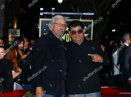 Stock Photo of Edward James Olmos and Abraham Quintanilla Jr.