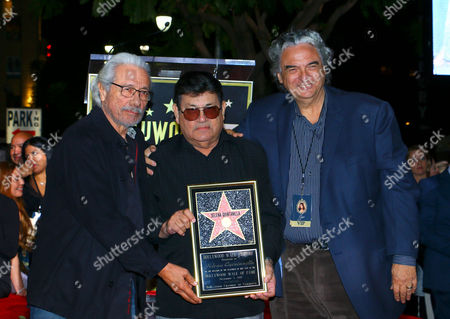 Edward James Olmos, Abraham Quintanilla Jr and Gregory Nava