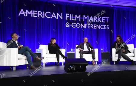 Jason Winston George, Lisa Vidal, Dondre Whitfield, and Effie T. Brown, Producer