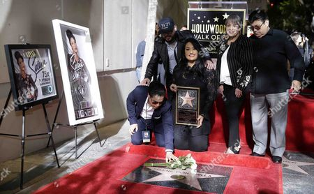 Editorial image of US-Mexican singer Selena Quintanilla honored with a posthumous star on the Hollywood Walk of Fame, USA - 03 Nov 2017