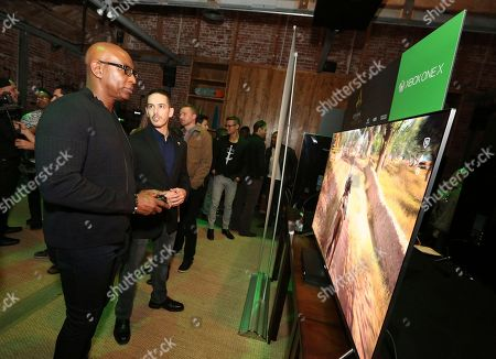 Eric Dickerson at the Xbox One X Vip Tour at the Microsoft Lounge on in Venice, Calif