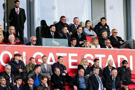 Stock Picture of Republic of Ireland manager Martin O'Neil and Premier League Chief Exec Richard Scudamore watch on from the Director's Box
