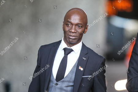 Swansea City assistant coach Claude Makelele arrives at the stadium, ahead of the Premier League match between Swansea City and Brighton and Hove Albion at the Liberty Stadium, Swansea