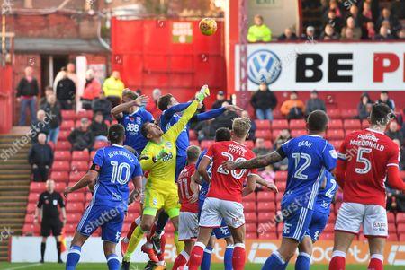 Birmingham City goalkeeper Tomasz Kuszczak (29) clears ball  during the EFL Sky Bet Championship match between Barnsley and Birmingham City at Oakwell, Barnsley