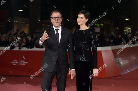 Italian actor/cast member Valerio Mastandrea (L) and Italian actress Chiara Martegiani arrive for the screening of 'The Place', at the 12th annual Rome Film Festival, Rome, Italy, 04 November 2017. The film festival runs from 26 October to 05 November.