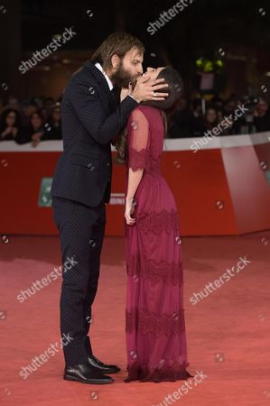 Italian actor/cast member Alessandro Borghi (L) and his girlfriend Roberta Pitrone arrive for the screening of 'The Place', at the 12th annual Rome Film Festival, Rome, Italy, 04 November 2017. The film festival runs from 26 October to 05 November.