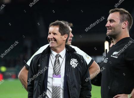 Barbarians vs New Zealand All-Blacks. Barbarians' Head Coach Robbie Deans