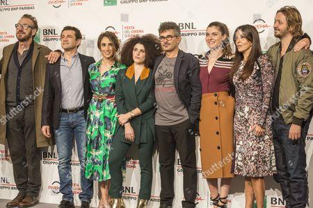 Marco Giallini, Vinicio Marchioni, Silvia D'Amco, Marianne Mirage, Paolo Genovese, Vittoria Puccino, Sabrina Ferilli and Silvio Muccino