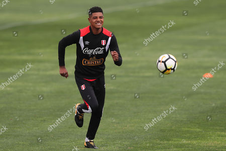 Peruvian team player Wilder Cartagena participates in a general training session at the Videna in the city of Lima, Peru, 04 November 2017. Peru is gearing up for their World Cup playoff games against New Zealand. Peru?s captain Paolo Guerrero failed a drug test and will miss Peru?s World Cup playoff against New Zealand.