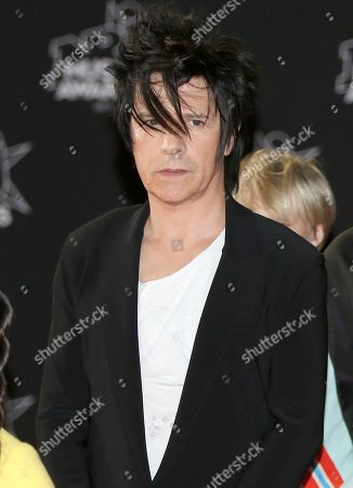 Nicola Sirkis of the French Pop Rock group Indochinearrives at the Cannes festival palace, to take part in the NRJ Music awards ceremony, in Cannes, southeastern France