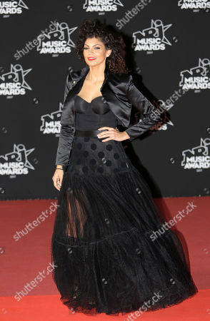 Nawell Madani arrives at the Cannes festival palace, to take part in the NRJ Music awards ceremony, in Cannes, southeastern France