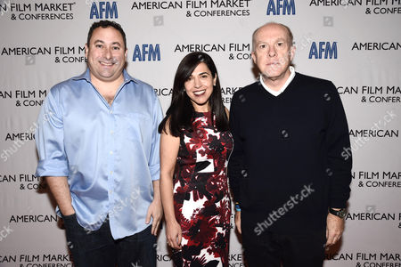 Tobin Armbrust, President, Worldwide Production and Acquisitions, Virgin Produced, Pilar Alessandra, Instructor/Consultant of On The Page, and Cassian Elwes, Independent Producer/Agent