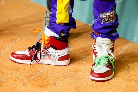 Stock Photo of Mateo Bowles of Ayo & Teo wears Air Jordan sneakers at the Nickelodeon Halo Awards at Pier 36, in New York