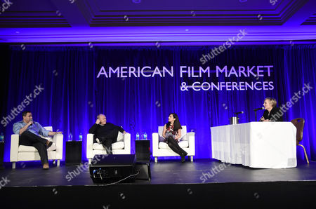 Tobin Armbrust, President, Worldwide Production and Acquisitions, Virgin Produced, Cassian Elwes, Independent Producer/Agent, Pilar Alessandra, Instructor/Consultant of On The Page, and Jennifer Julian