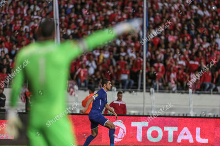 Goalkeeper Sherif Ekramy of Egypt's Al Ahly Sporting Club gives instructions to his teammates during the second leg of the CAF Champions League final soccer match against Morocco's Wydad Athletic Club, in Casablanca, Morocco, . Wydad defeated Al Ahly 2-1 on aggregate to win the CAF Champions League