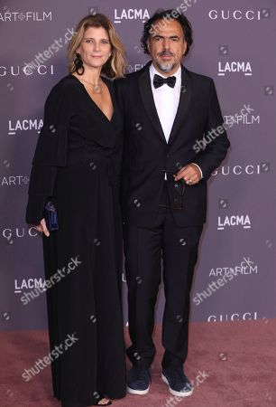 Alejandro Gonzalez Inarritu, Maria Eladia Hagerman. Alejandro Gonzalez Inarritu, right, and Maria Eladia Hagerman arrive at the LACMA Art + Film Gala at the Los Angeles County Museum of Art on in Los Angeles