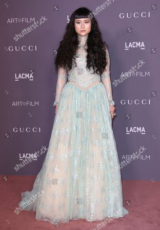 Asia Chow arrives at the LACMA Art + Film Gala at the Los Angeles County Museum of Art on in Los Angeles