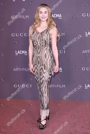 Stock Image of Elizabeth TenHouten arrives at the LACMA Art + Film Gala at the Los Angeles County Museum of Art on in Los Angeles