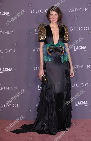 Michelle Alves arrives at the LACMA Art + Film Gala at the Los Angeles County Museum of Art on in Los Angeles