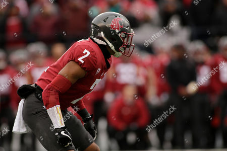 Washington State defensive back Robert Taylor (2) lines up for a play during the first half of an NCAA college football game against Stanford in Pullman, Wash