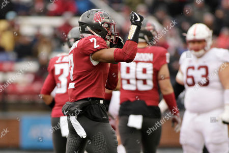 Washington State defensive back Robert Taylor (2) stands on the field during the second half of an NCAA college football game against Stanford in Pullman, Wash