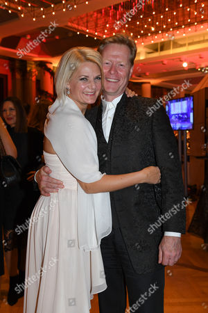 Stock Picture of Dieter Thoma mit Ehefrau Manuela Thoma