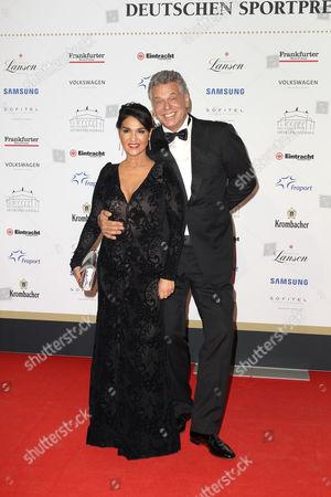 Juergen Hingsen mit Ehefrau Francesca Elstermeier
