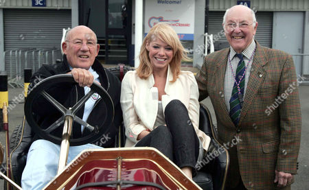 Stirling Moss, Liz McClarnon  and Murray Walker