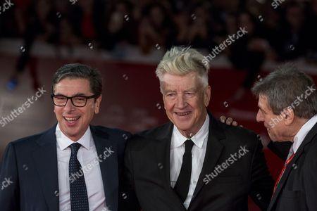 David Lynch with Artistic Director of the festival Antonio Monda and Richard Pena