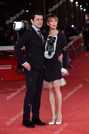 Vinicio Marchioni and his wife Milena Mancini