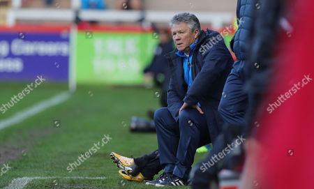 Steve Perryman, Exeter City Director of Football during the FA Cup First Round, Exeter City v Heybridge Swifts at St James Park on November 5th 2017, Exeter, Devon.