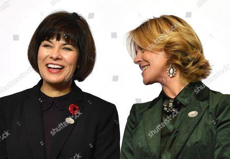 Stock Image of Ginette Petitpas Taylor and Beatrice Lorenzin