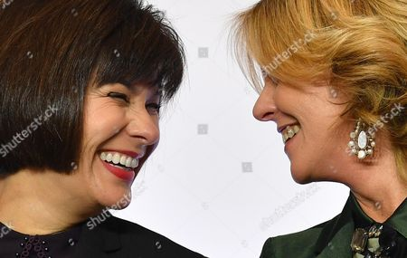Stock Picture of Ginette Petitpas Taylor and Beatrice Lorenzin