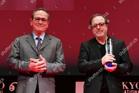 "Stock Photo of (L-R) Tommy Lee Jones, Semih Kaplanoglu - Director Semih Kaplanoglu wins ""Tokyo Grand Prix/The Governor of Tokyo Award"" for the film ""Grain"""
