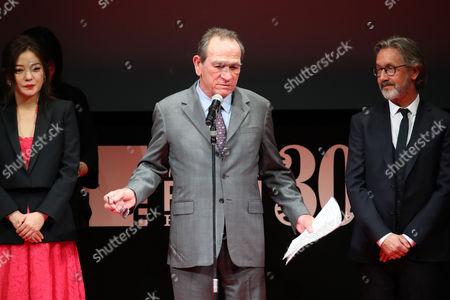 Stock Photo of (L-R) Vicki Zhao, Tommy Lee Jones, Martin Provost