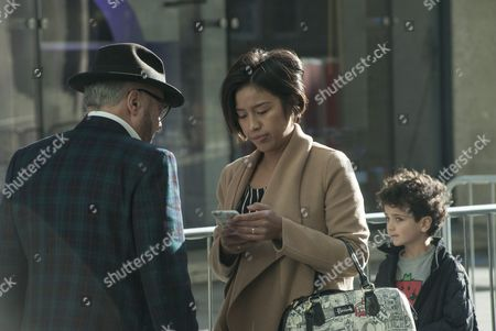 George Galloway accompanied by his wife Putri Gayatri Pertiwi and family.