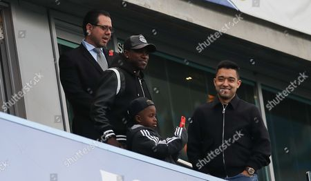 Former Chelsea player Ramires in the stands