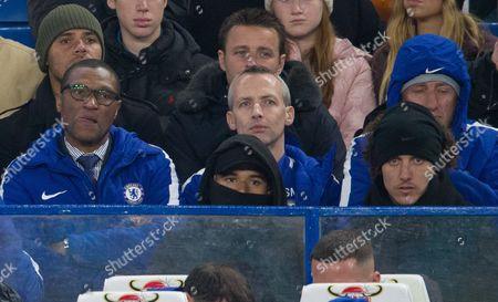 Stock Image of Technical director Michael Emenalo left with David Luiz right