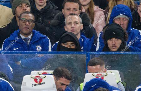 Technical director Michael Emenalo left with David Luiz right