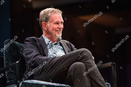 Reed Hastings seen on day one of Summit LA17 in Downtown Los Angeles's Historic Broadway Theater District, in Los Angeles