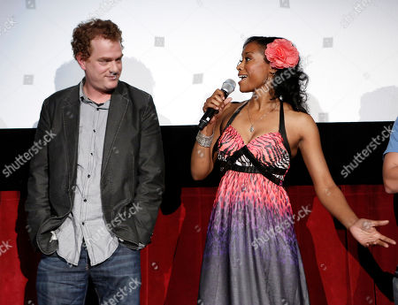 Actor Todd Robert Anderson and actress Tarina Pouncy arrive at the Fuzz Track City World Premiere at Dances With Films on in Los Angeles