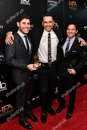 Michael H. Weber, James Franco and Scott Neustadter