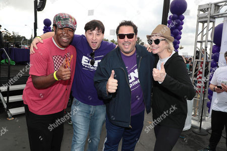 BD Freeman, Jake Grunberg, Greg Grunberg and Jane Lynch
